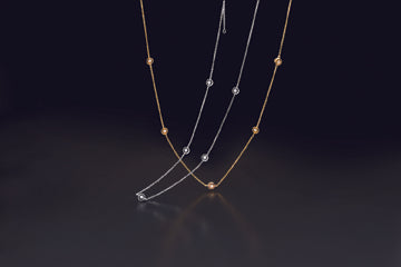 Diamond By the Yard Necklace -14 Karat , White or Yellow Gold