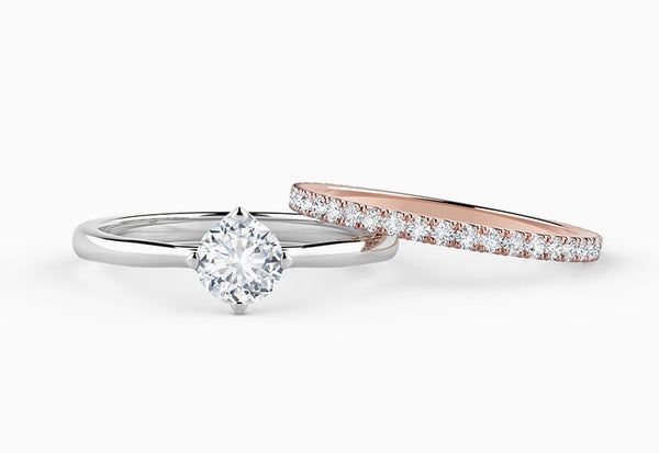 How to pair your engagement ring with your wedding band