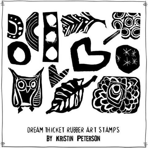 Dream Thicket Rubber Stamp Sheet