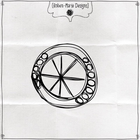 Pie Circle Cling Rubber Stamp