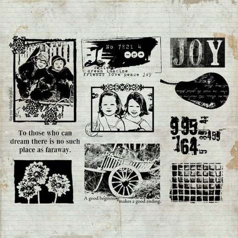 Joy Rubber Stamp Sheet