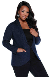 Lurex Metallic Blazer - PLUS SIZE