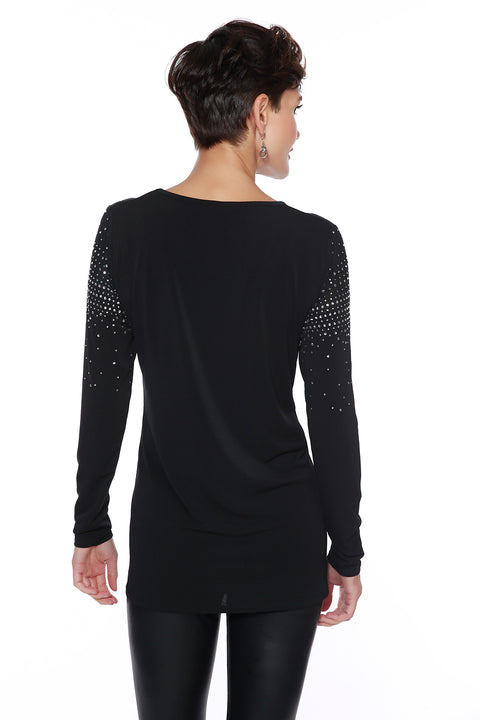 Variegated Sparkle Top with Illusion Detail