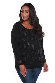 Illusion Tunic with Waterfall Sparkle Details - PLUS SIZE