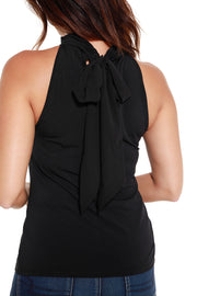 Women's Halter Top with Back Bow Tie