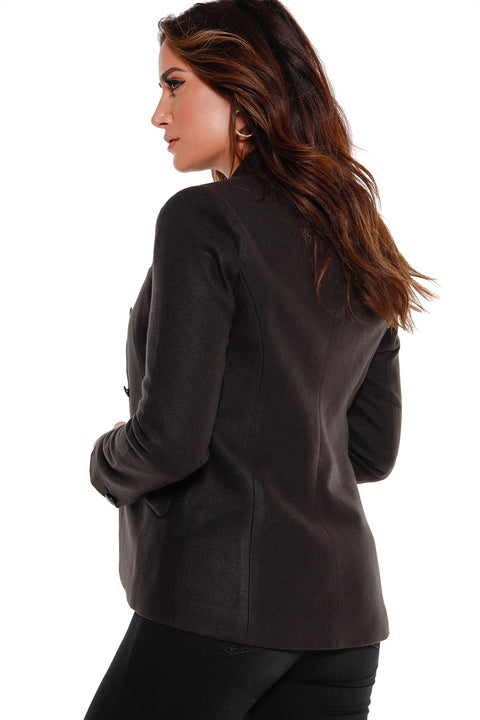 48 Hour Deal | Women's Long Sleeve Mandarin Collar Blazer