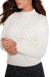 Women's Long Sleeve Mock Neck Sweater