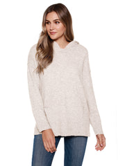 Women's Long Sleeve Sweater Hoodie with Front Pockets