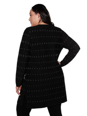 Women's Long Button Front Cardigan | Curvy