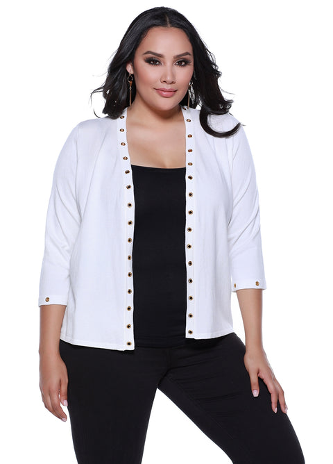 3/4 Open Cardigan - Plus Size
