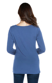 Super Soft French Terry Pullover with Grommets Down Sleeves
