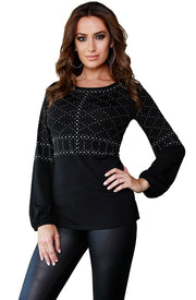 Blouson Sleeve Tunic with Studded Detail