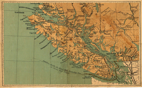 S Map Of Vancouver Island Skookum Prints - 1800s world map