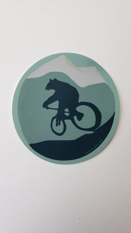 Bear on Bike Decal