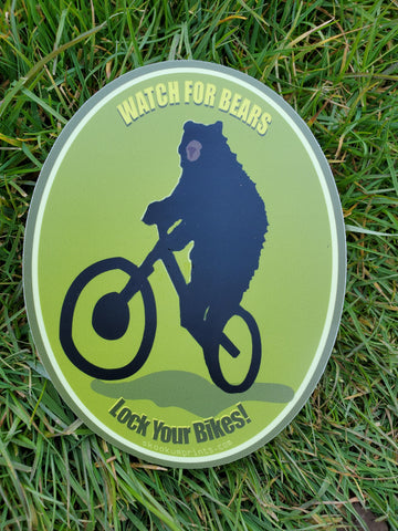 Lock Your Bikes Decal