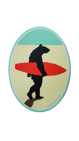 Surf Bear Decal