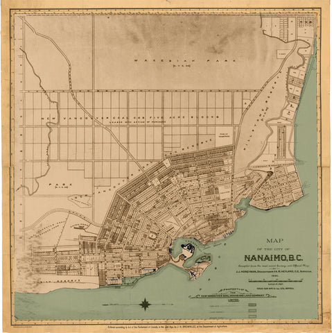 Nanaimo Map, 1891