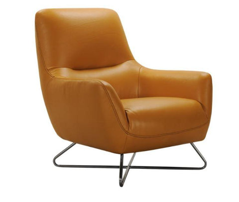 Cross Leg Leather Arm Chair - Jordans Home