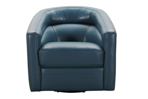 Piped Upholstered Leather Arm Chair - Jordans Home
