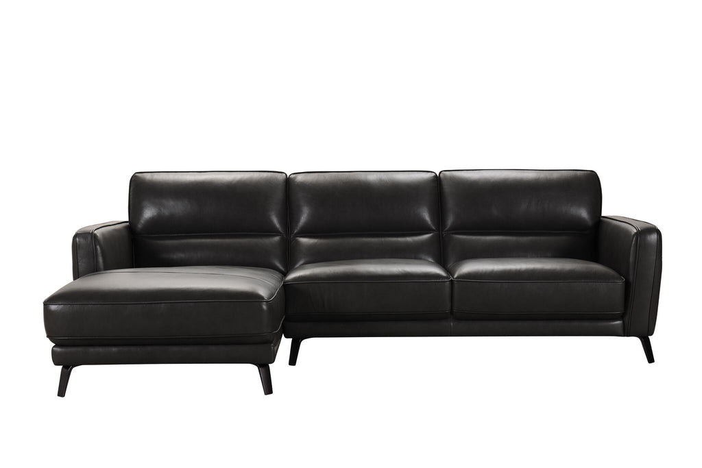 Leather Chaise Sofa - Jordans Home