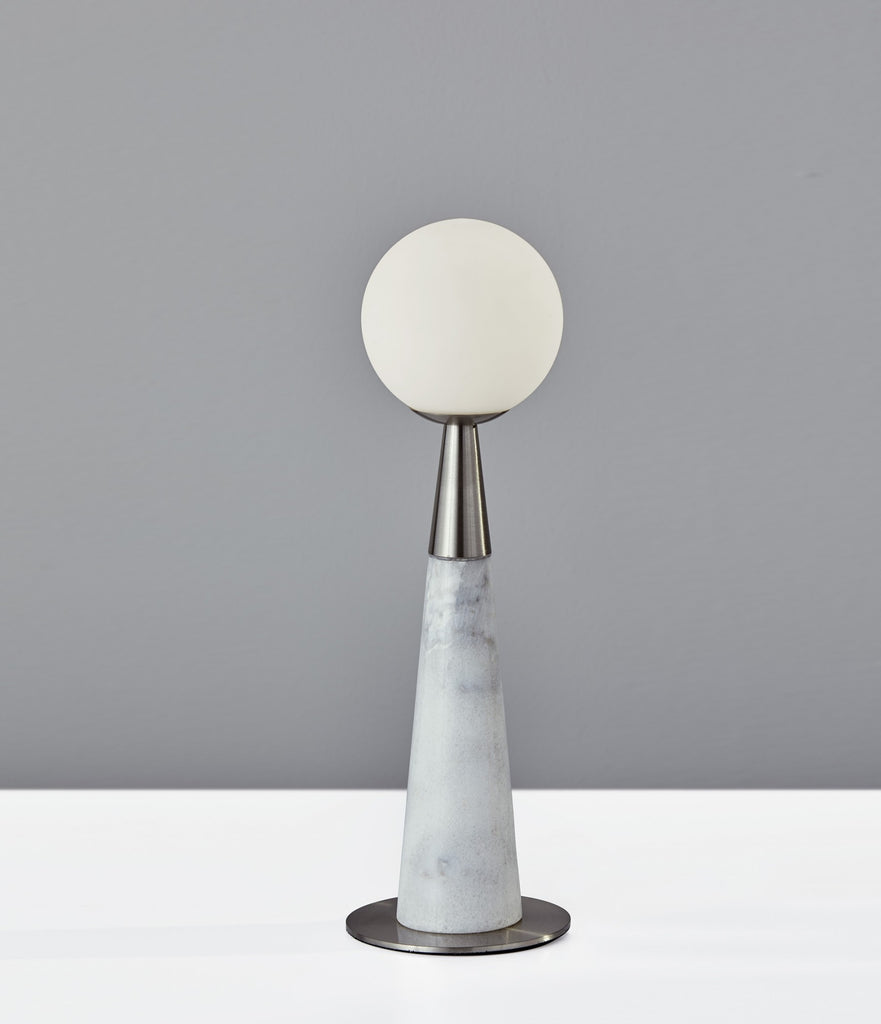 Pearl LED Accent Lamp - Steel/Marble