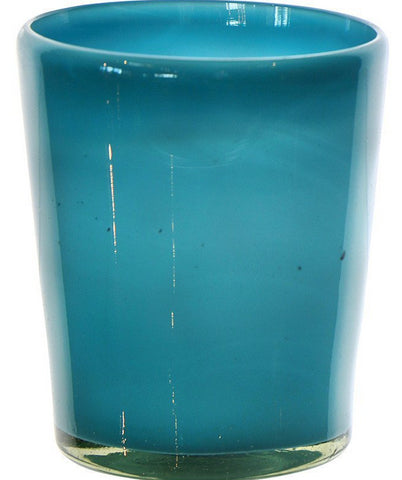 Short Blue Round Glass - Jordans Home