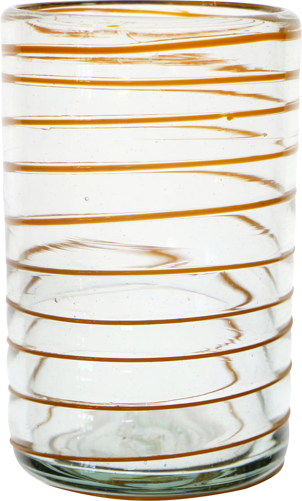 Tall Spiral Glass