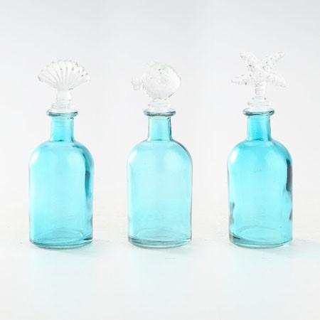 Under the Sea Glass Bottles - Jordans Home