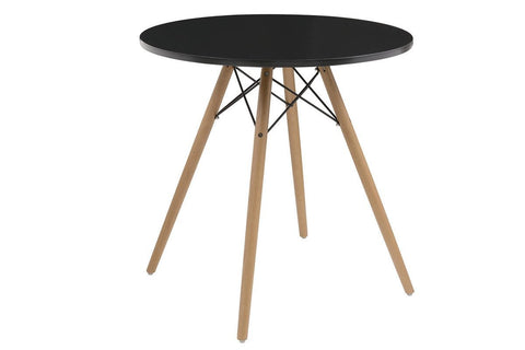 Annette Round Black Table