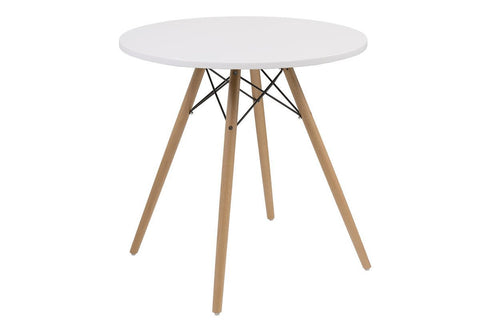 Annette Round White Table