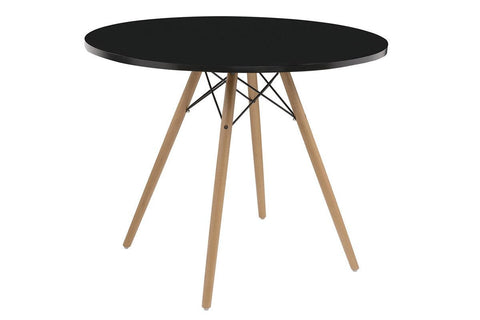 "Annette 40"" Round Black Table"