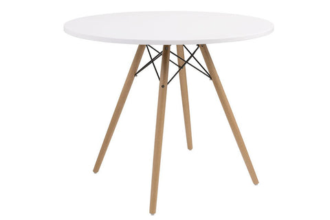 "Annette 40"" Round White Table"
