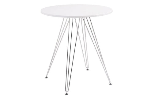 "Audrey 27.5"" Round White Dining Table - Jordans Home"
