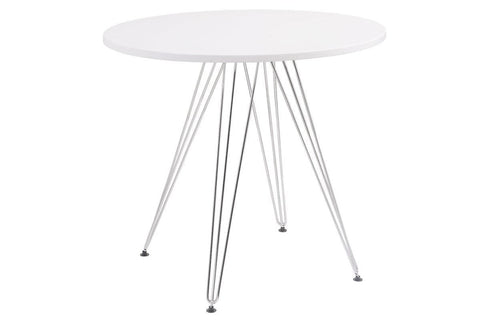 "Audrey 40"" Round White Dining Table"
