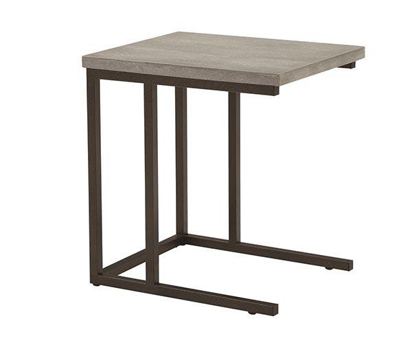Stoneworks Wood Concrete Laptop Table - Jordans Home