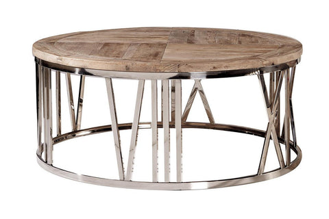 Round Stainless Steel Coffee Table - Jordans Home