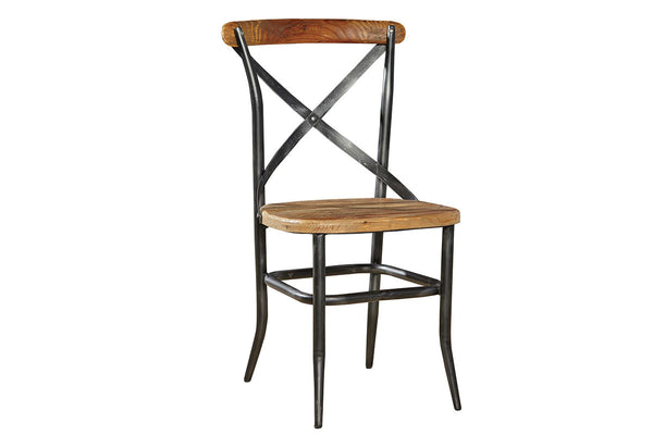Metal and Wood Cross Chair  | Dining Chair, Chair | Jordans Home