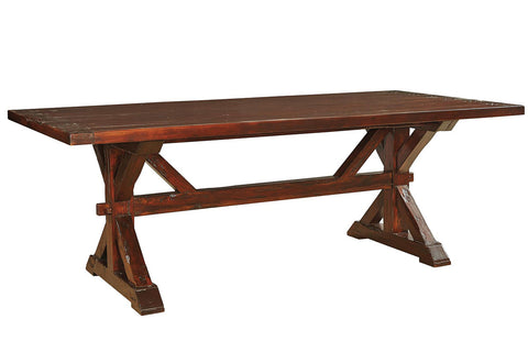 7' Trestle Dining Table  | Dining Table, Table | Jordans Home