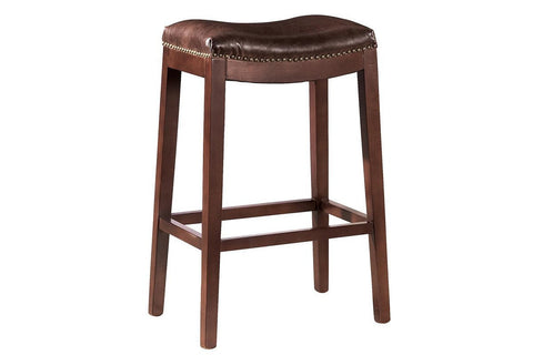 Leather Backless Counter Stool  | Bar Stool | Jordans Home