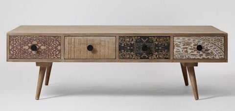 Detailed Wooden Coffee Table - Jordans Home