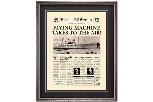 Flying Machine Takes to the Air  | Framed Art | Jordans Home