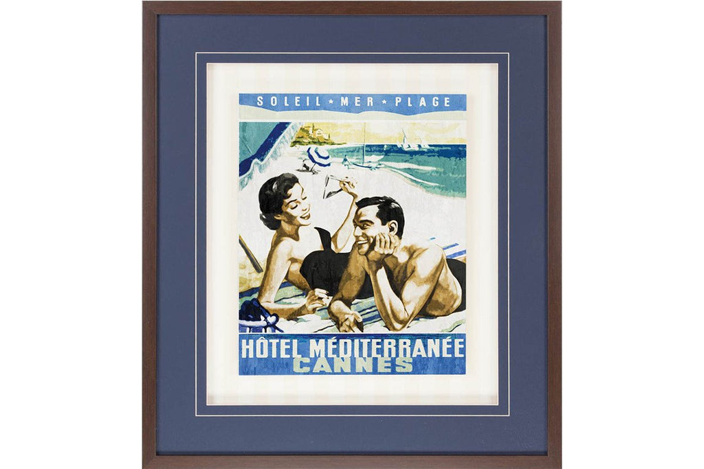 Vintage Travel Cannes  | Framed Art | Jordans Home