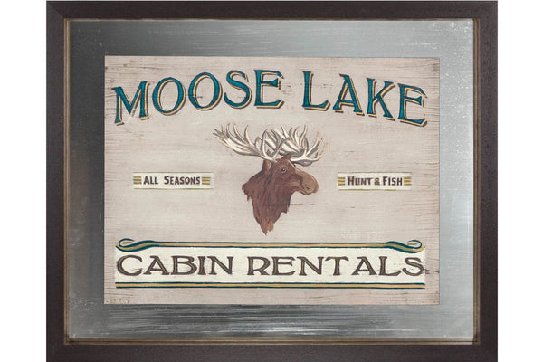 Custom Lodge Sign IV  | Framed Art | Jordans Home