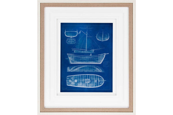 Ship Blueprint II Artwork  | Framed Art | Jordans Home