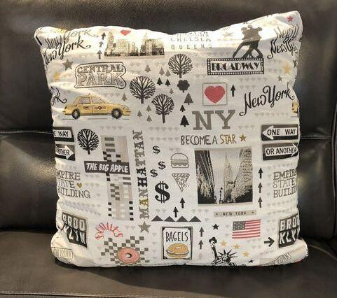 New York Fabric Toss Pillow - Jordans Home