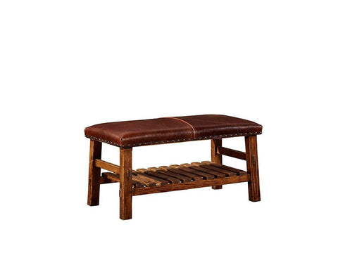 Leather Everett Bench  | Bench | Jordans Home