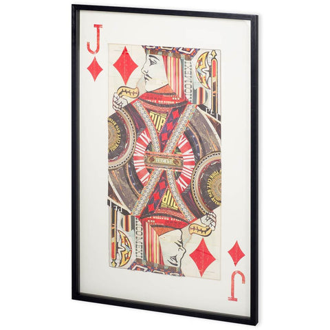 Jack of Diamonds Framed Art - Jordans Home