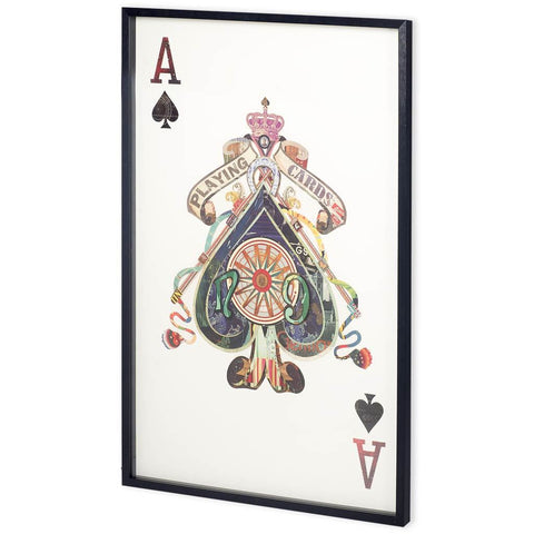 Ace of Spades Framed Art - Jordans Home