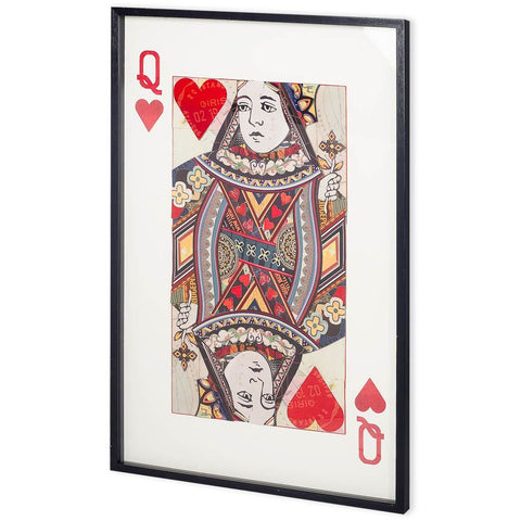Queen of Hearts Framed Art - Jordans Home