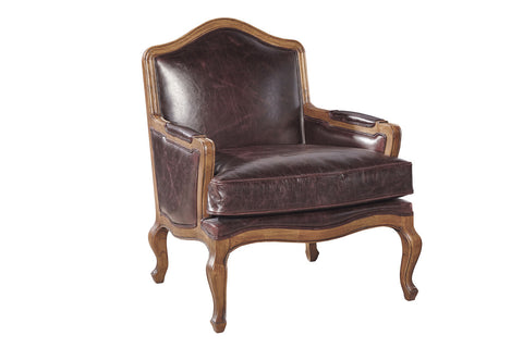 Leather Regency Chair  | Accent Chair | Jordans Home